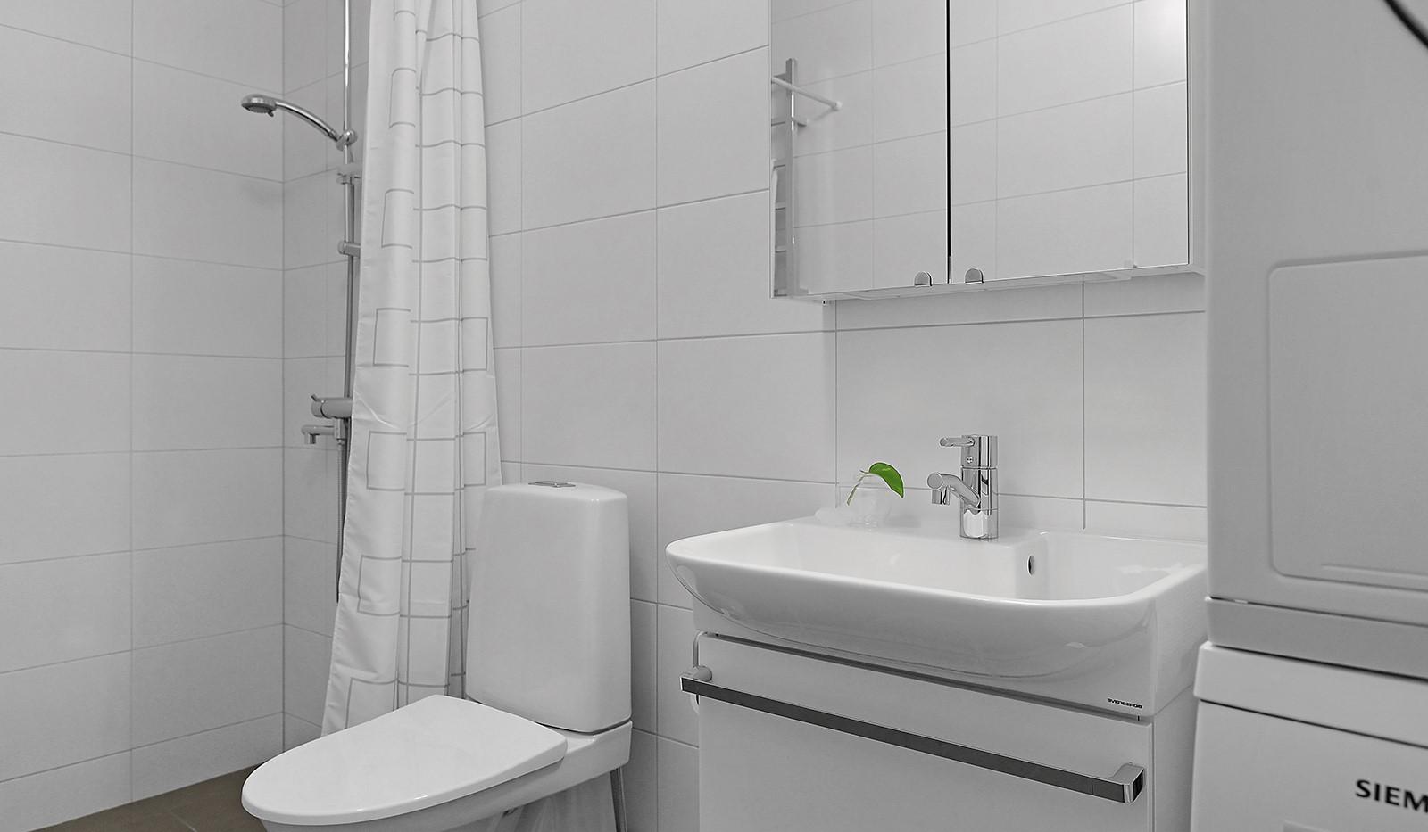 Buteljgatan 24, 5 tr - Badrummet är utrustat med tvättmaskin och torktumlare