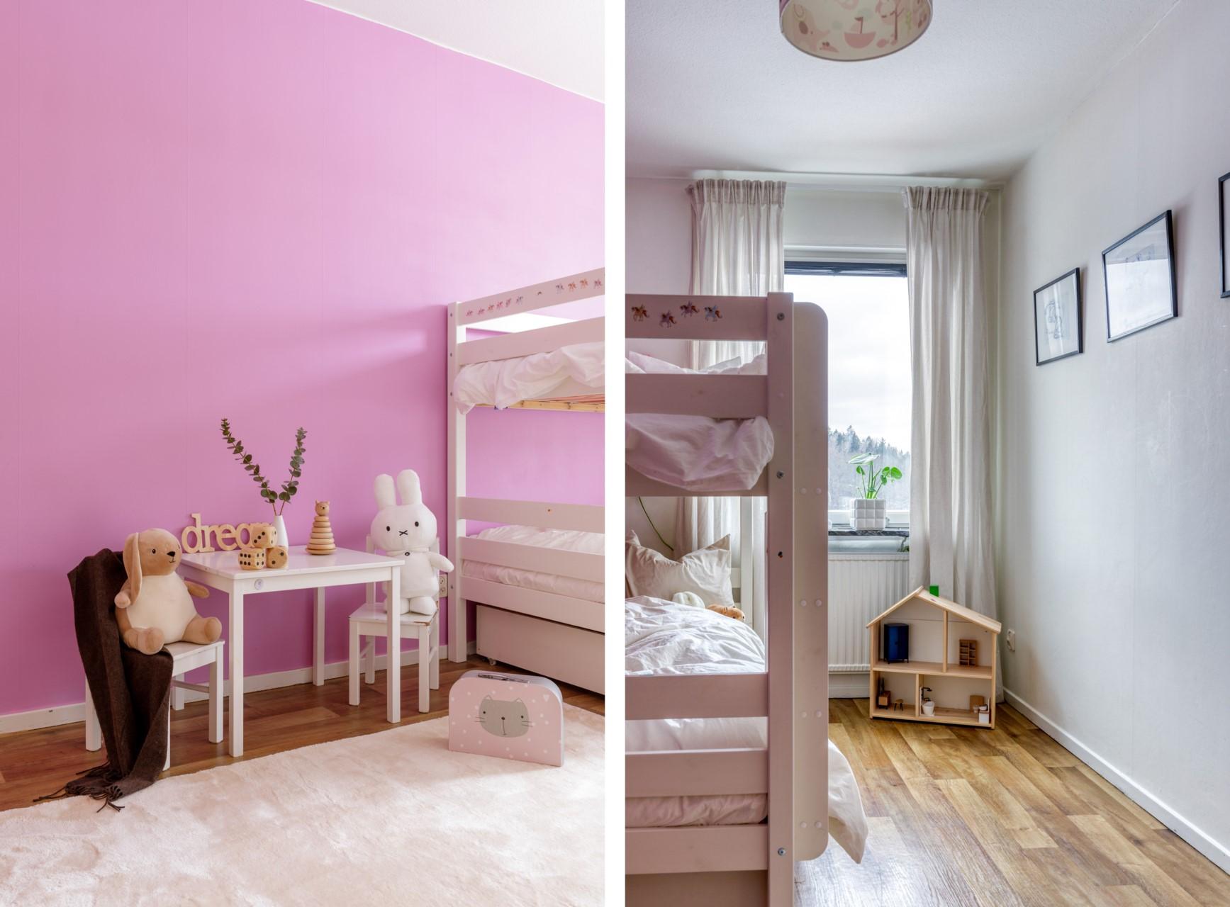 Tumba Torg 107, vån 5 - Barnrum med palts för säng och lekyta samt förvaring