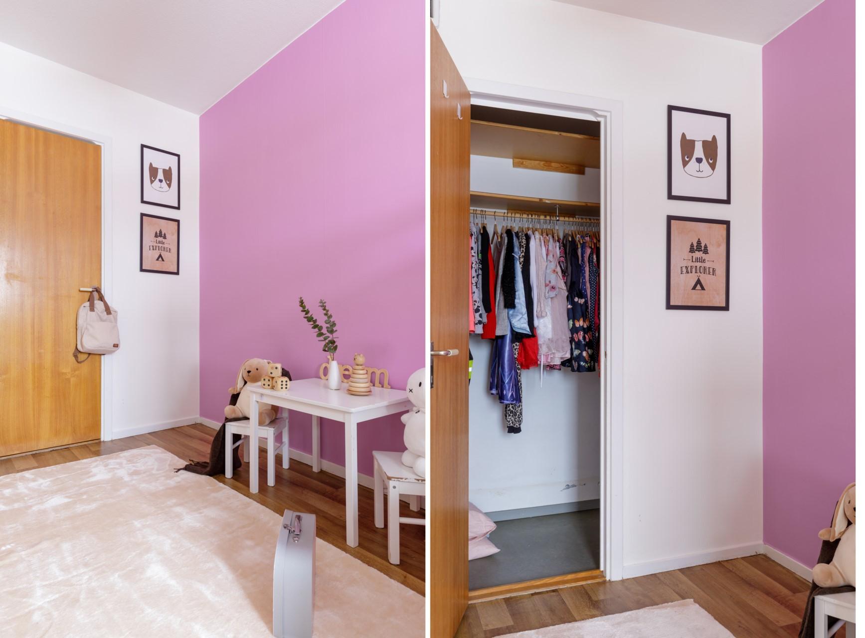 Tumba Torg 107, vån 5 - Sovrum med klädkammare