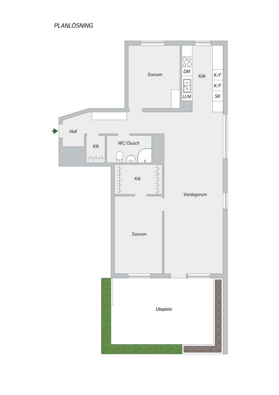 Kocksgatan 42 - Planlösning
