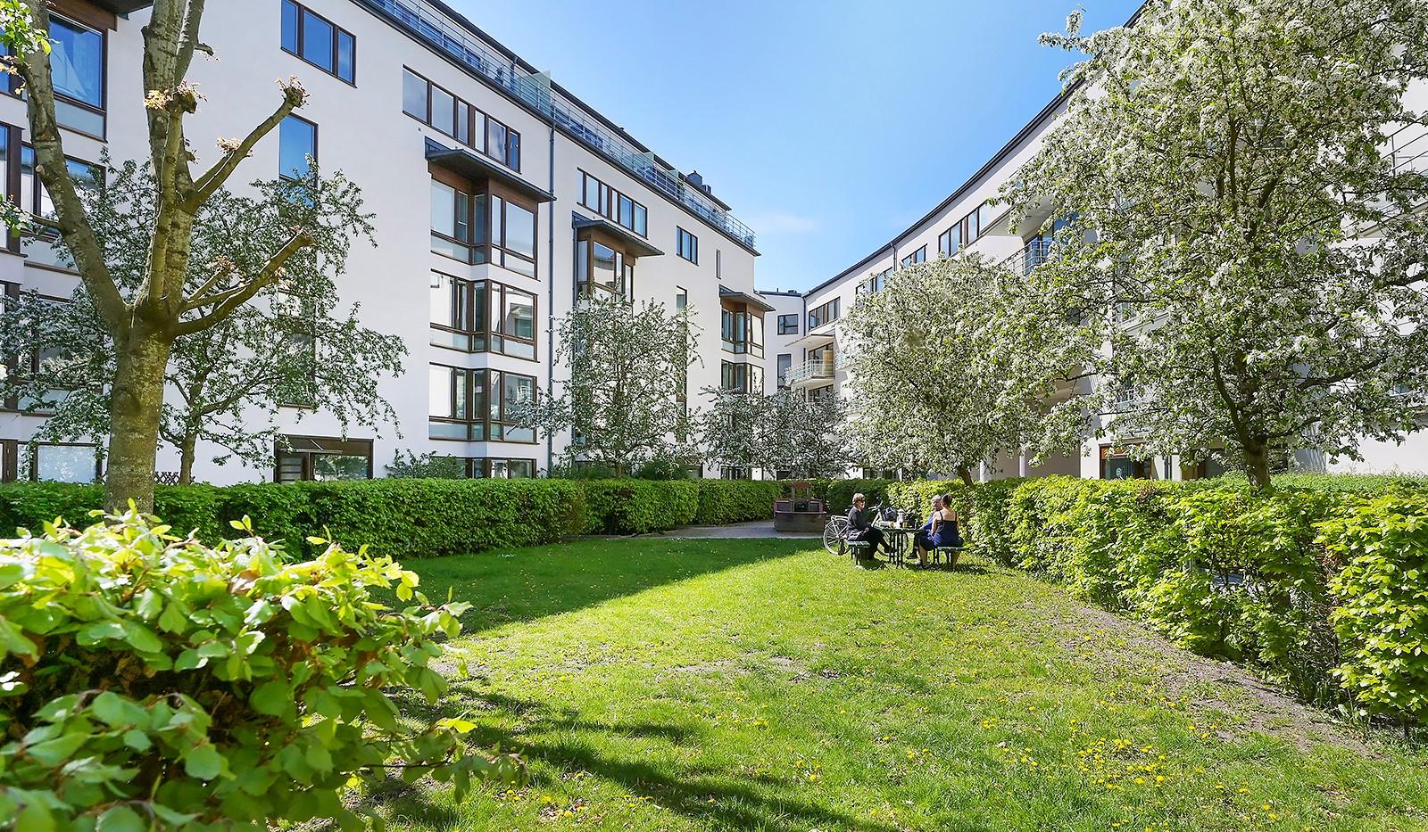 Sickla kanalgata 13B - Föreningens innergård