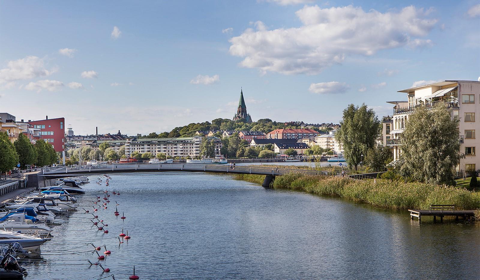 Sickla kanalgata 13B - Vy mot Hammarby Sjö