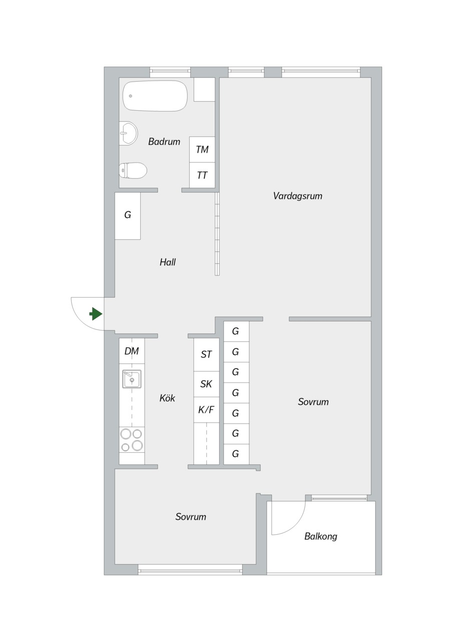 Tideliusgatan 61, 4 tr-22