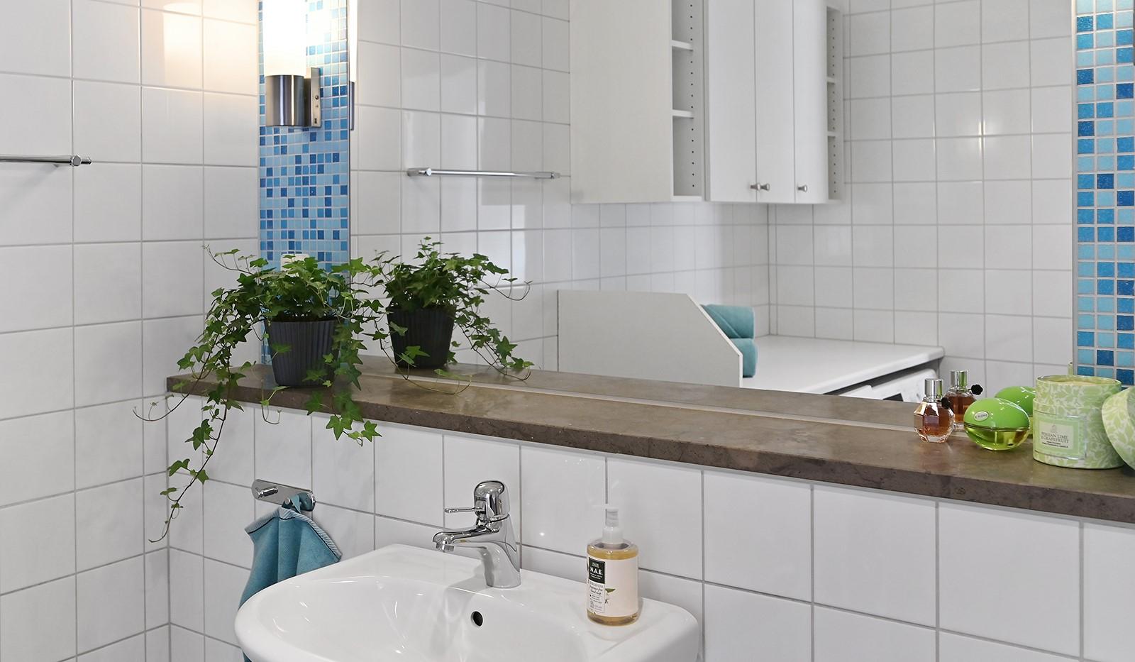 Blekegatan 1, 6 tr - Badrummet är utrustat med stilrena material