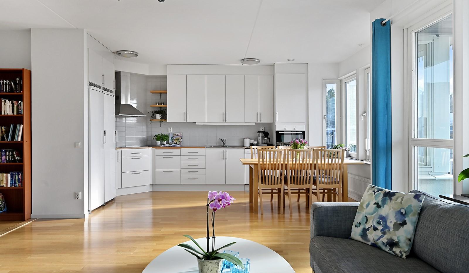 Blekegatan 1, 6 tr - Öppen planlösning mellan vardagsrum och kök