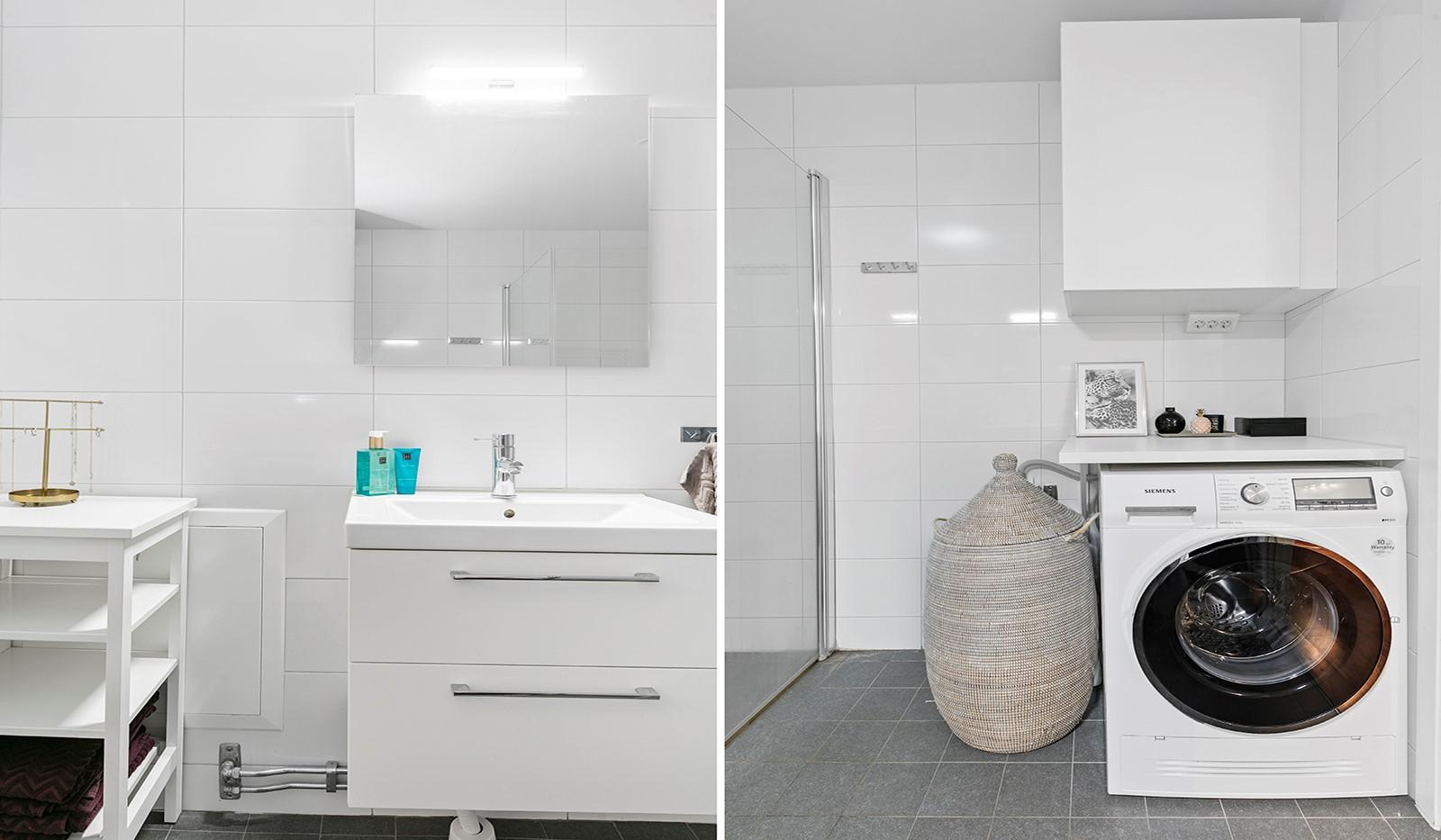 Sjöviksvägen 114, 3 tr - Badrummet är utrustat med tvättmaskin