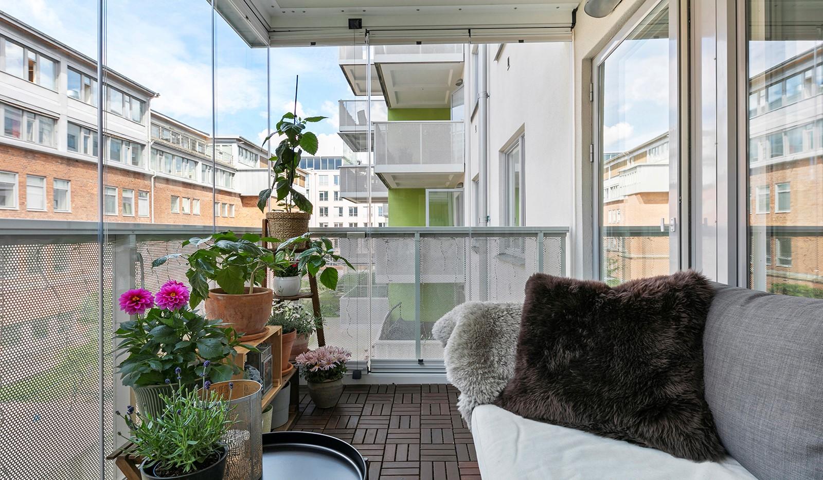 Marieviksgatan 44, 2 tr - Stor inglasad balkong